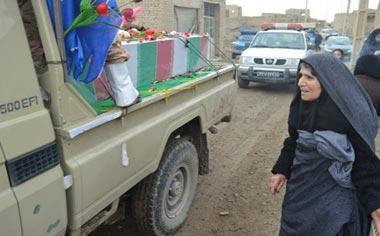 استقبال باشکوه مردم منطقه قهاوند از پیکرهای پاک ۴ شهید جاویدالاثر