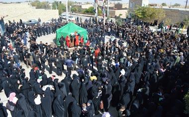 برگزاری مراسم سوگواری روز عاشورا در شهر قهاوند