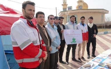 بازدید مسئولین منطقه قهاوند از پایگاه راهنمایان مسافرین نوروزی هلال احمر
