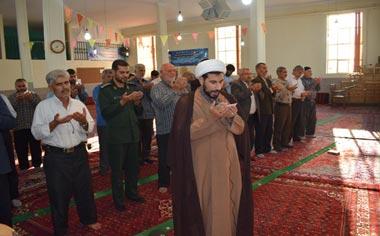 اقامه نماز عید قربان در مسجد جامع شهر قهاوند