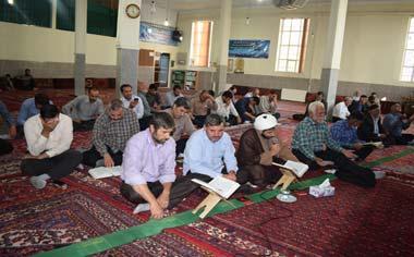 مراسم قرائت دعای پرفیض عرفه در قهاوند برگزار شد