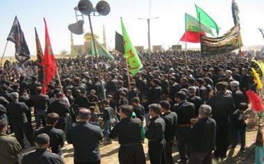 مراسم سوگواری عاشورای حسینی در روستای کوزره برگزار شد