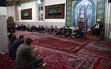 گزارش تصویری از مراسم عزاداری شب هشتم محرم در مسجد جامع شهر قهاوند