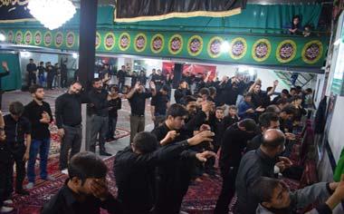گزارش تصویری از مراسم عزاداری شب هفتم محرم درحسینیه سیدالشهدا (ع) قهاوند