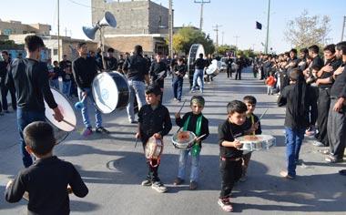 گزارش تصویری از مراسم عزاداری تاسوعای حسینی در شهر قهاوند