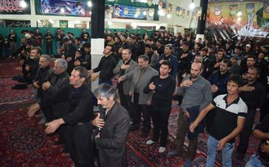 مراسم شام غریبان امام حسین(ع) در قهاوند برگزار شد