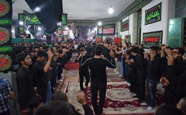 گزارش تصویری از مراسم عزاداری شب عاشورای حسینی در شهر قهاوند