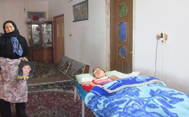 مصطفی نوجوان قهاوندی که چهار سال در زندگی نباتی به سرمی برد