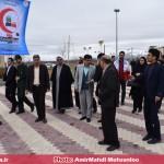 مسئولین منطقه قهاوند از پایگاه راهنمایان مسافرین نوروزی هلال احمر بازدید کردند (4)