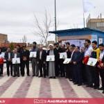 مسئولین منطقه قهاوند از پایگاه راهنمایان مسافرین نوروزی هلال احمر بازدید کردند (5)