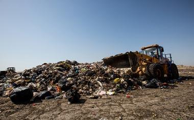 آخرین وضعیت سایت دپوی زباله قهاوند