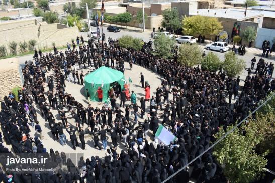 گزارش تصویری از مراسم عزاداری مردم شهر قهاوند در ایام محرم۹۷